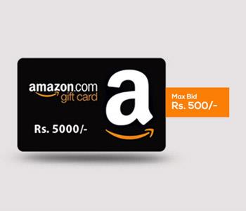 Rs. 5000/-  Amazon Gift Card